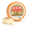 OKA with Mushrooms Cheese Wheel and Wedge